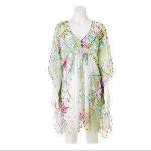 Jennifer Lopez floral-chiffon dress